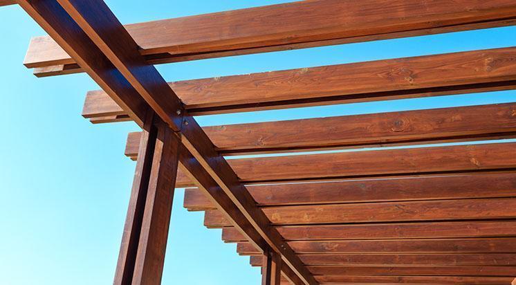 drewniana kostrukcja tarasu