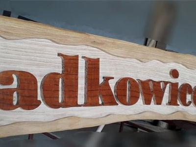 drewniana tabliczka
